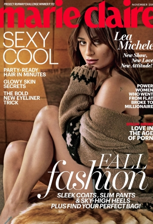 US Marie Claire November 2015 : Lea Michele by Boe Marion