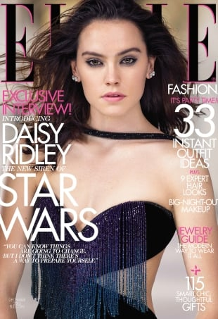 US Elle December 2015 : Daisy Ridley by Mark Seliger