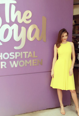 Miranda Kerr at Royal Hospital for Women
