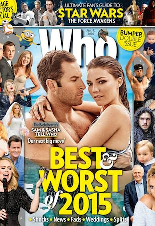 Sam Frost covers WHO for 2015 Issue