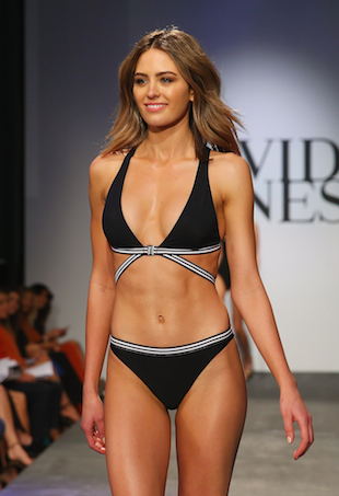 Jesinta Campbell walks the David Jones runway