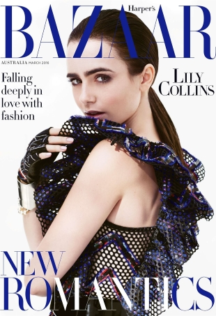 Harper's Bazaar Australia March 2016 : Lily Collins by David Roemer