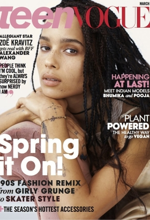 Teen Vogue March 2016 : Zoe Kravitz by Josh Olins