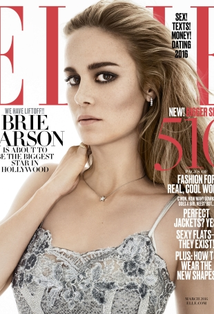 US Elle March 2016 : Brie Larson by Terry Tsolis