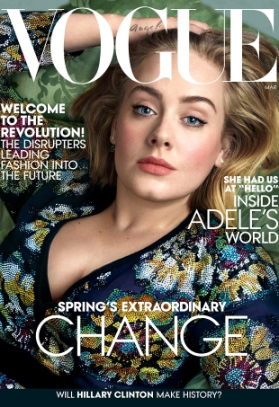 US Vogue March 2016 : Adele by Annie Leibovitz