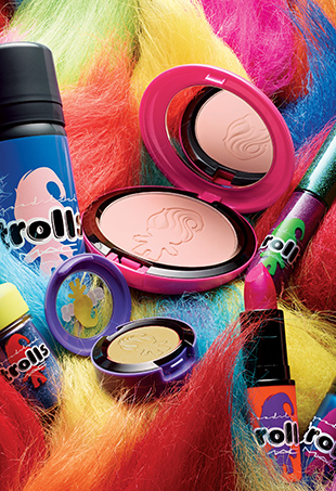 Today MAC Cosmetics announced its newest collection, MAC Good Luck Trolls.