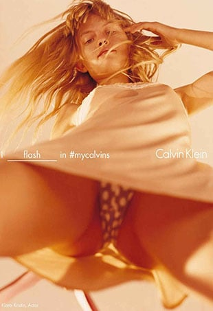 The National Center on Sexual Exploitation has issued a petition against one of the ads in Calvin Klein's latest campaign.