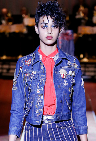 Marc Jacobs' Spring 2016 collection featured patches and pins galore.