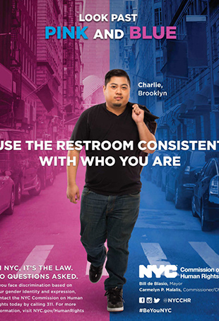 The New York City Commission on Human Rights has launched the first city-government-led initiative promoting transgender bathroom rights.