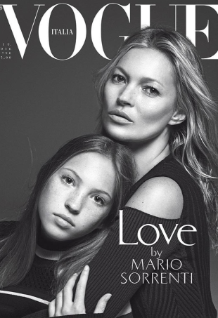Vogue Italia June 2016 : Kate Moss & Lila Grace Moss Hack by Mario Sorrenti