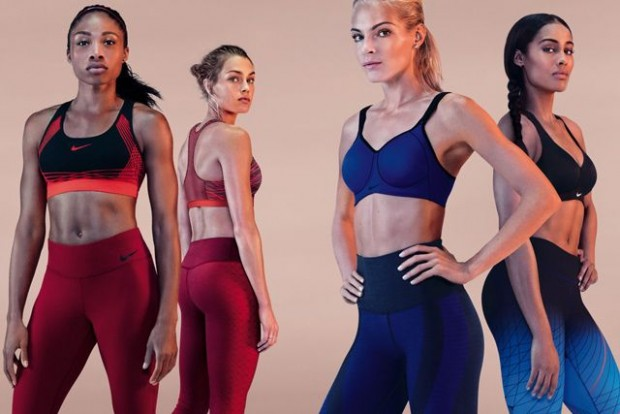 The Nike Pro bra collection's lookbook features professional athletes rather than curvy models.