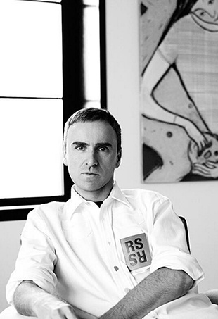 Raf Simons, Chief Creative Officer of Calvin Klein, man of our minimalist hearts.