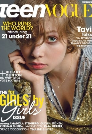 Teen Vogue September 2016 : Tavi Gevinson by Inez van Lamsweerde & Vinoodh Matadin