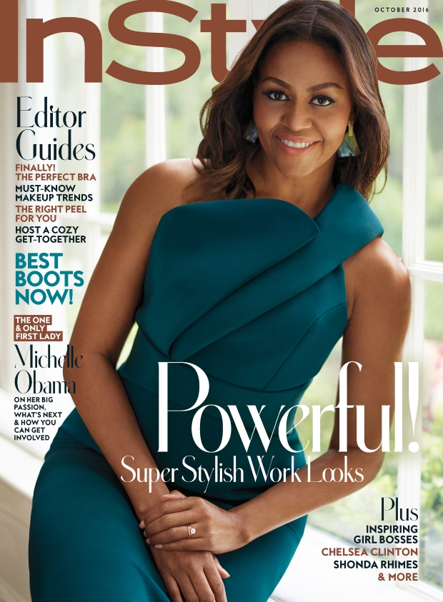 US InStyle October 2016 : Michelle Obama by Thomas Whiteside
