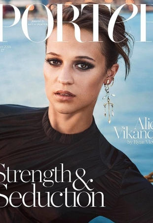 Porter #17 Winter 2016 : Alicia Vikander by Ryan McGinley
