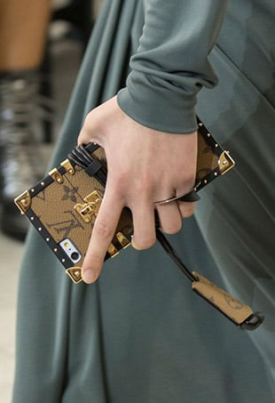 At the Spring 2017 Louis Vuitton presentation, Nicolas Ghesquière debuted a new range of cellphone cases inspired by the brand's Petite Malle silhouette.