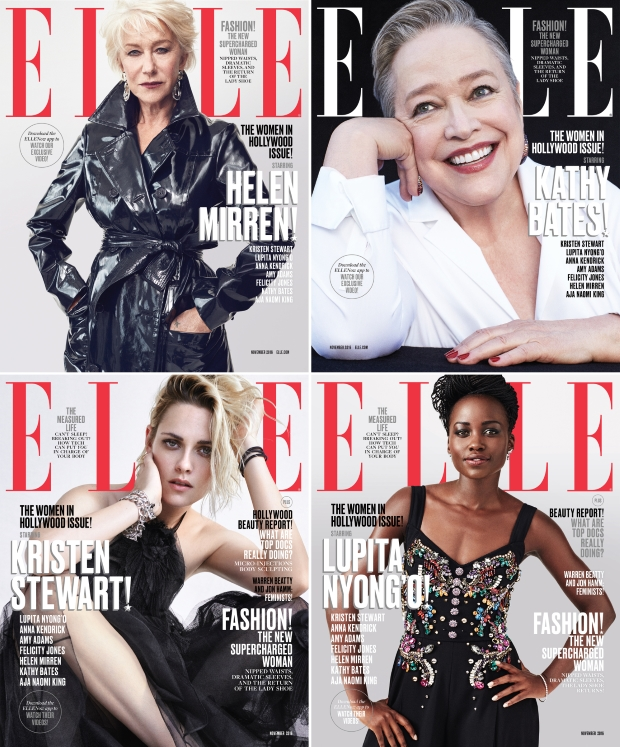US Elle November 2016 : The Women In Hollywood Issue by Dan Martensen