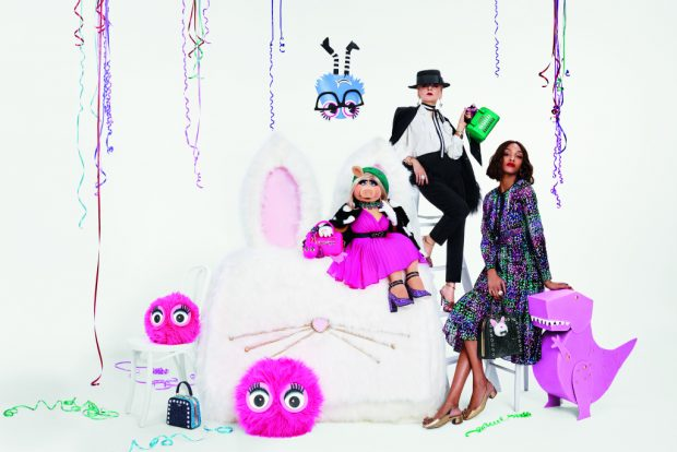 Kate Spade New York's holiday campaign stars Miss Piggy, Jourdan Dunn and Catherine Baba.