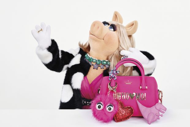Miss Piggy stars in Kate Spade New York's Holiday ad campaign.