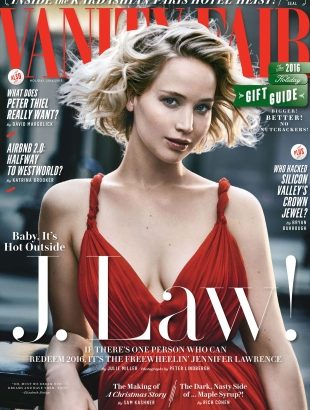 Vanity Fair Holiday 2016 : Jennifer Lawrence by Peter Lindbergh
