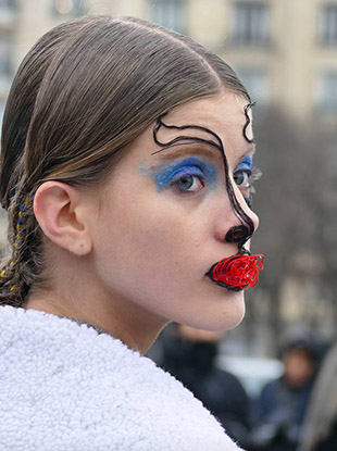 Makeup legend Pat McGrath and hair wizard Eugene Souleiman really outdid themselves at this morning's Maison Margiela haute couture show.
