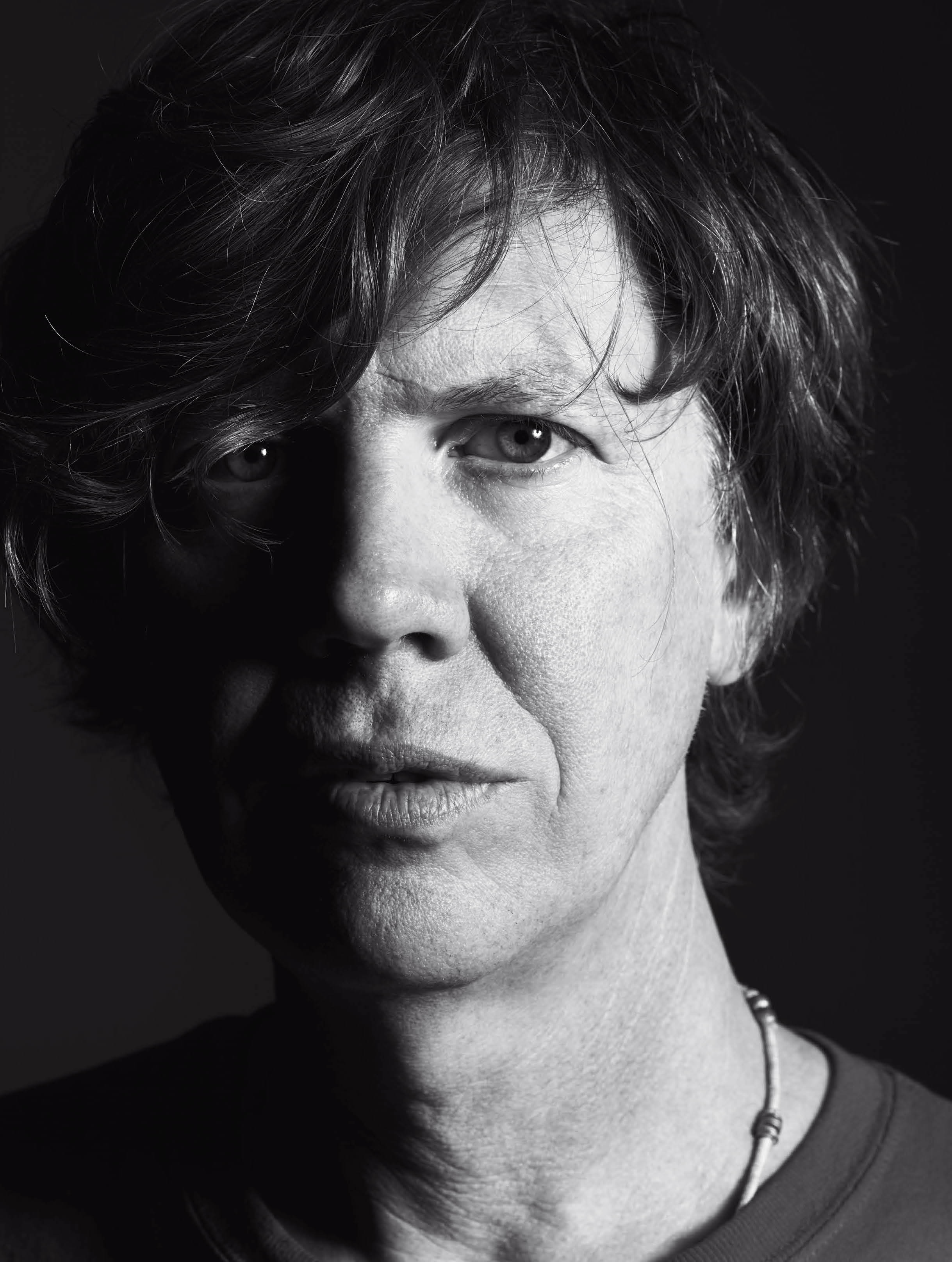 "Thurston Moore, from Slimane's ""New York Diary"" in V Magazine."