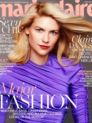 US Marie Claire February 2017 : Claire Danes by Txema Yeste