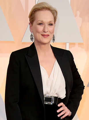 Meryl Streep arrives at the 87th Annual Academy Awards at Hollywood & Highland Center on February 22, 2015 in Los Angeles, California.