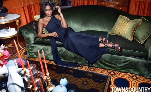 Town & Country March 2017 : Naomi Campbell by Max Vadukul