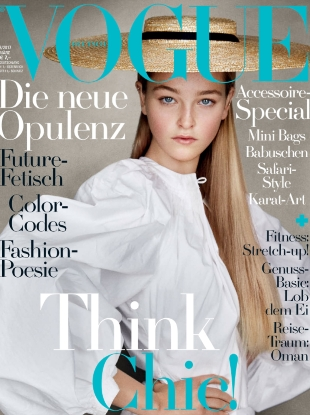 Vogue Germany March 2017 : Jean Campbell by Patrick Demarchelier