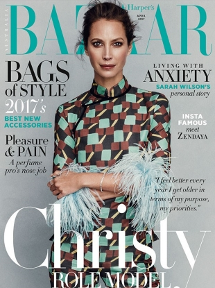 Harper's Bazaar Australia April 2017 : Christy Turlington by Norman Jean Roy