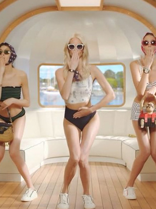 "The brand's new ""#ToryStory: An American Roadtrip"" campaign shows Poppy Delevingne and two other white, thin models lip-synching to ""Juju on That Beat."""