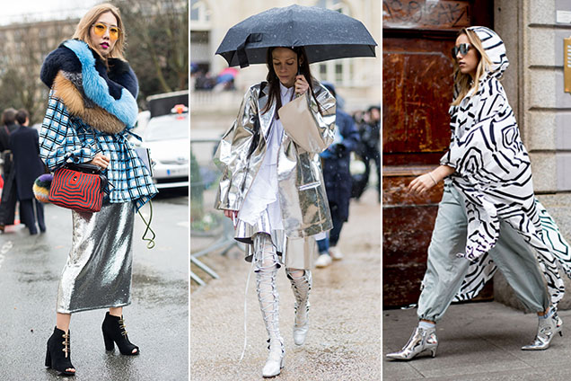Fall 2017's silver trend takes to the streets.