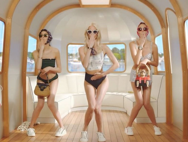 """The brand's new """"#ToryStory: An American Roadtrip"""" campaign shows Poppy Delevingne and two other white, thin models lip-synching to """"Juju on That Beat."""""""