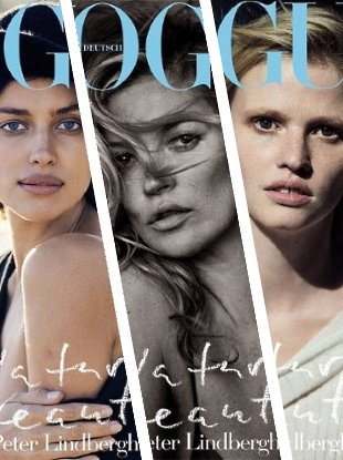 Vogue Germany May 2017 : Kate Moss, Lara Stone & Irina Shayk by Peter Lindbergh