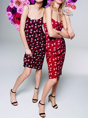 Two dresses from the Karl Lagerfeld Paris for Lord & Taylor x Vogue 125 collection.