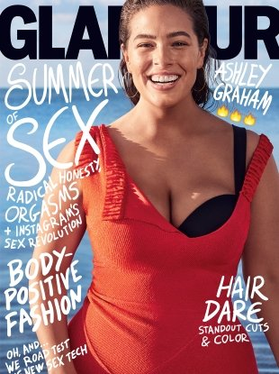 US Glamour July 2017 : Ashley Graham by Nathaniel Goldberg