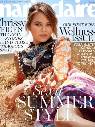 US Marie Claire July 2017 : Chrissy Teigen by Michelangelo di Battista