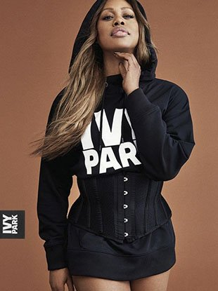 """Laverne Cox, Karen McDonald, Grace Bol and Ralph Souffrant star in Ivy Park's Fall 2017 """"Strong Beyond Measure"""" campaign."""