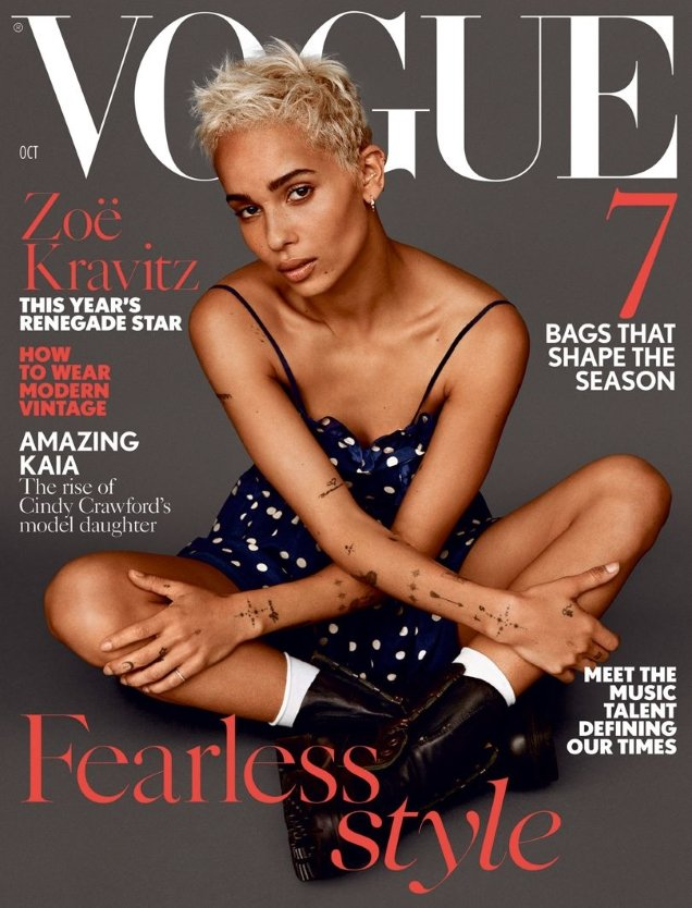 UK Vogue October 2017 : Zoe Kravitz by Alasdair McLellan