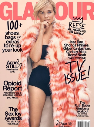 US Glamour October 2017 : Reese Witherspoon by Emma Summerton