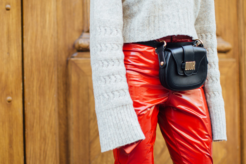 Fanny pack spotted at Paris Fashion Week Spring 2018