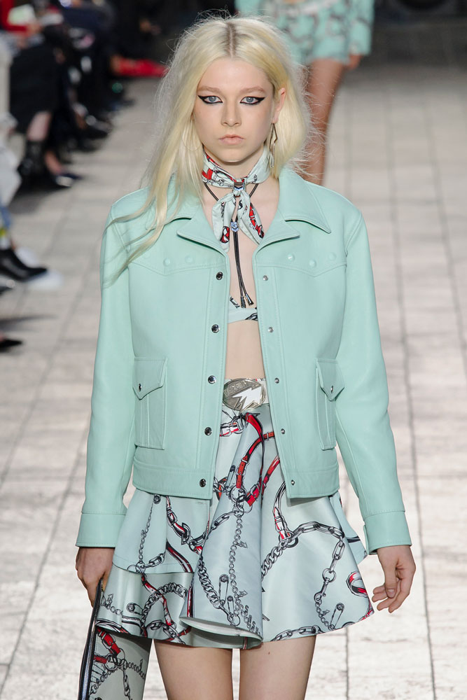 Hunter Schafer at Versus Versace.
