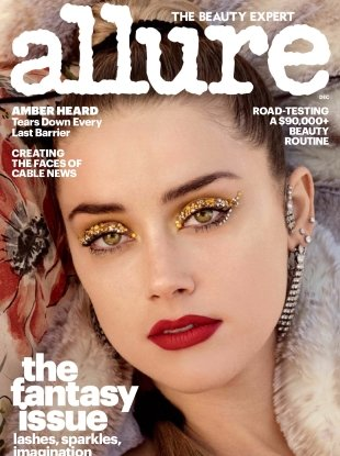 Allure December 2017 : Amber Heard by Daniel Jackson