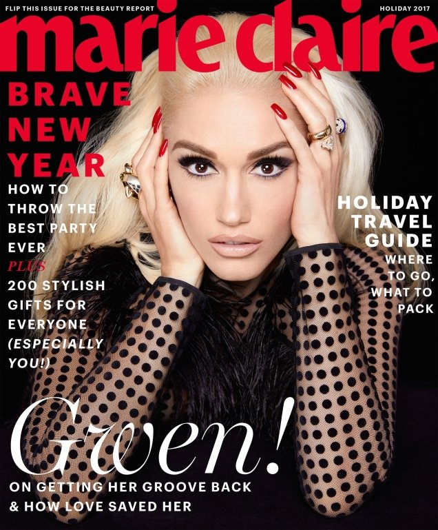 US Marie Claire Holiday 2017 : Gwen Stefani by Kai Z Feng