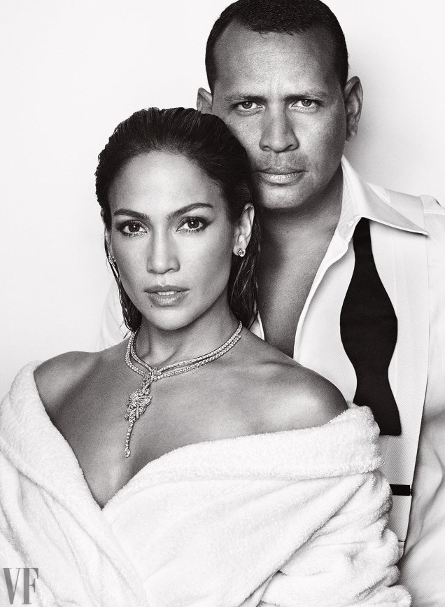 Vanity Fair December 2017 : Jennifer Lopez & Alex Rodriguez by Mario Testino