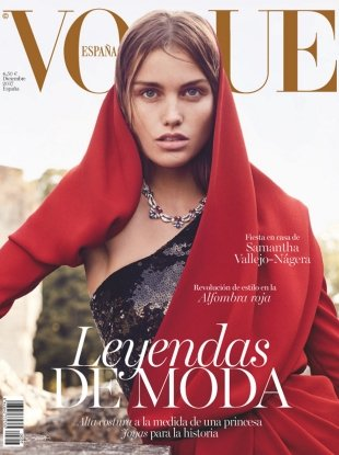 Vogue España December 2017 : Luna Bijl by Nathaniel Goldberg