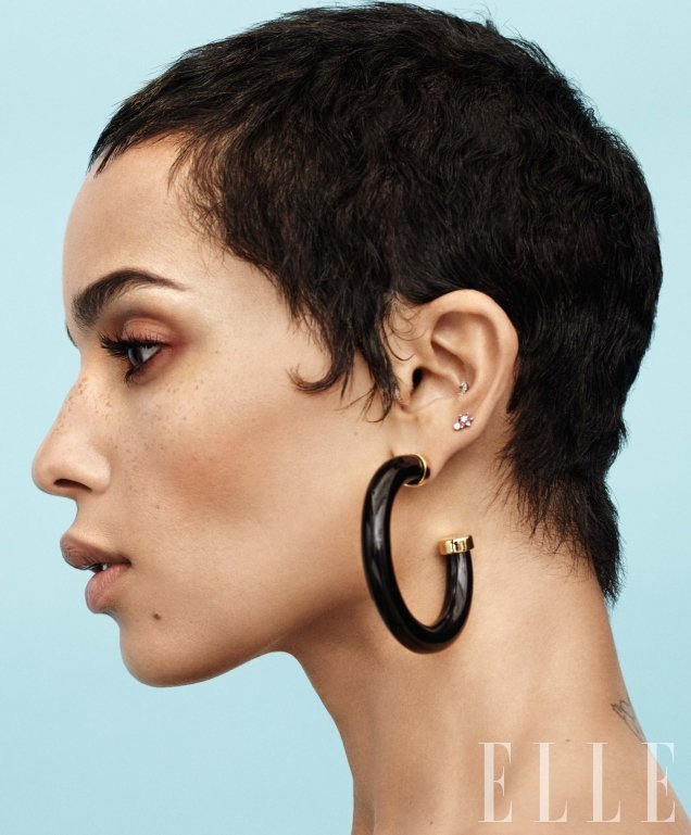 US Elle January 2018 : Zoe Kravitz by Paola Kudacki