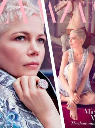 UK Harper's Bazaar February 2018 : Michelle Williams by Agata Pospieszynska