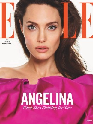 US Elle March 2018 : Angelina Jolie by Mariano Vivanco